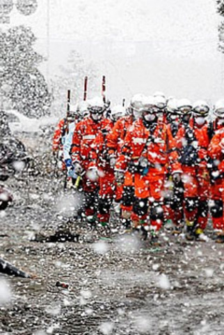 In Pics: After the tsunami comes the snow