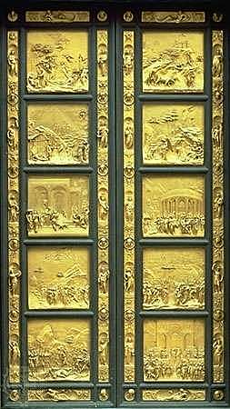 Ghiberti completes The gates of paradise