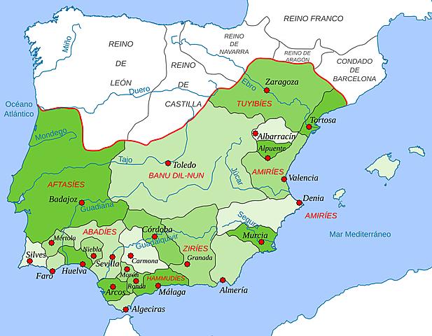 División del califato en reinos de taifas