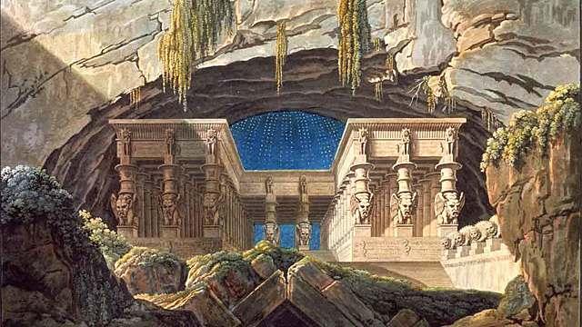 El templo de Isis y Osiris | Karl Friedrich Schinkel