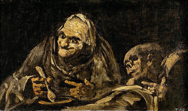 Dos viejos comiendo sopa | Francisco de Goya