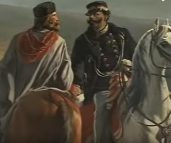 Garibaldi e re Vittorio Emanuele II s'incontrano a Teano