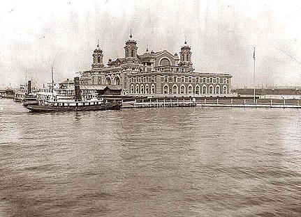 Creation of Ellis island