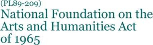 The National Foundations of the Arts and Humanities, 1965