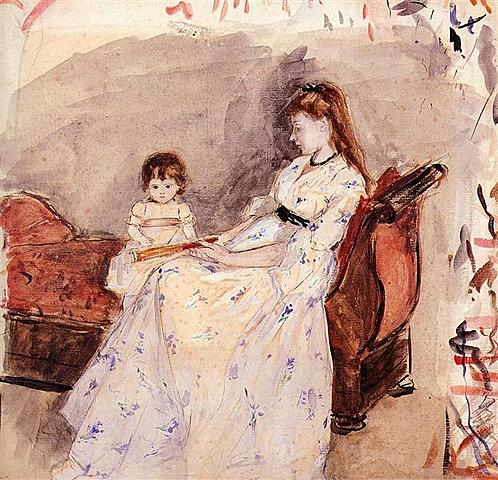 The Artist´s Sister Edma with Her Daughter Jeanne