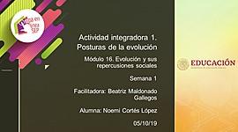 Actividad integradora 1. Posturas de la evolución timeline