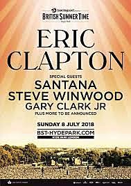 Xavi va al concert d'Eric Clapton a Hyde Park