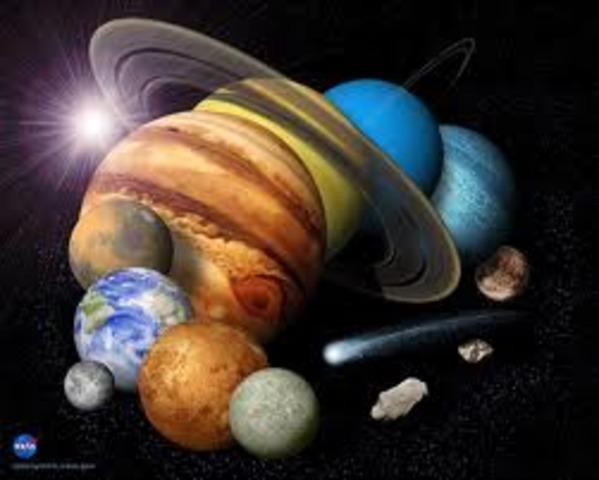 (5 BYA) The Solar System Began to Form
