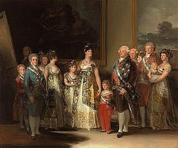 La familia de Carlos IV - Goya