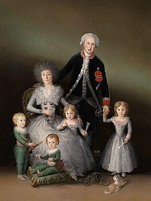 Los Duques de Osuna y sus hijos - Goya