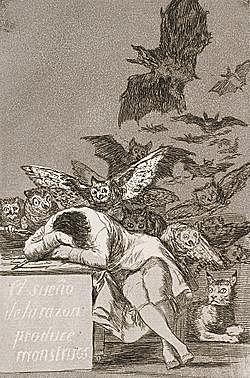 El sueño de la razón produce monstruos - Goya