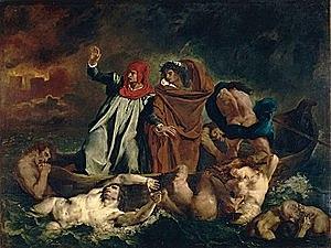 La barca de Dante - Delacroix