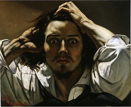 """DE CAMPOS- Le dessin: Expression d'une intériorité """"Le Désespéré"""" (1843-1845 / 45 x 54 cm/ Huile sur toile) Gustave Courbet"""