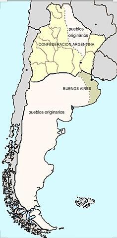 Situación de la confederación  Argentina después de la caída de rosas