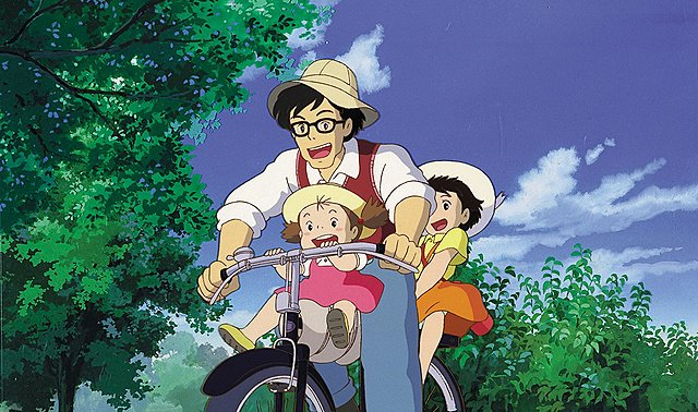 """Morin : Jeux sur les emprunts ou les citations de codes et de styles """"Mon voisin Totoro"""" Hayao Miyasaki ( Screen du film)"""