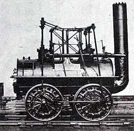 Potente Locomotora de vapor