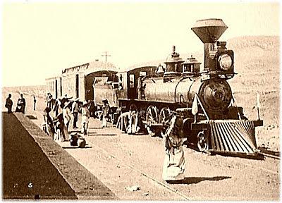 Primer convoy ferroviario en México
