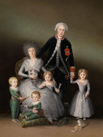 Los duques de Osuna ysus hijos de Goya