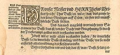 95 tesis de Martí Lutero