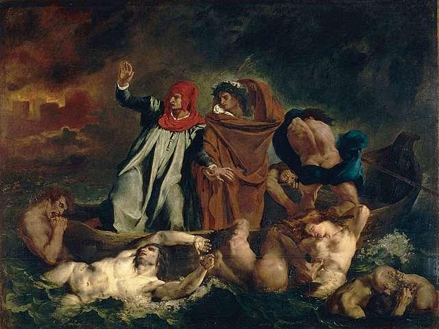 La barca de Dante de Eugéne Delacroix