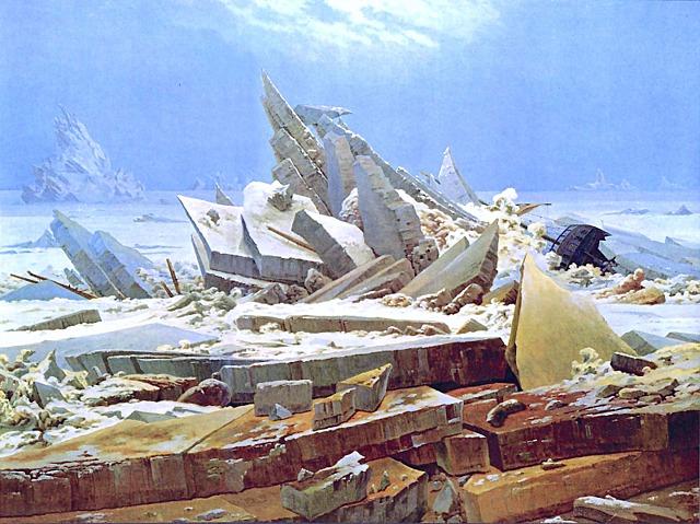 Mar de Hielo de Caspar David Friedrich