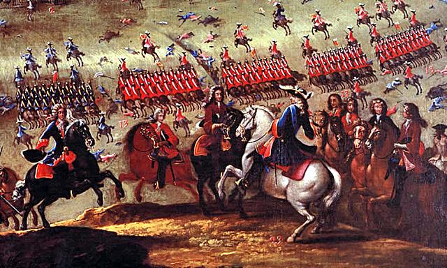 Victòria borbònica a la batalla d'Almansa.