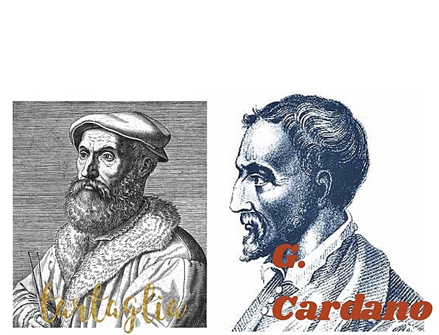 Niccoló F. Tartaglia - G Cardano