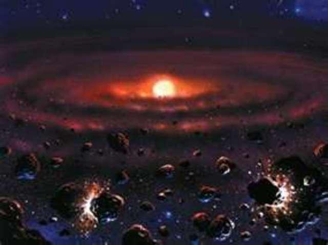 (5 BYA) Solar system was beginning to form
