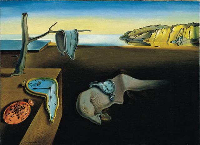 "Pintó ""The Persistence of Memory"""