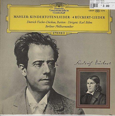 ''Kindertotenlieder'', Gustav Mahler