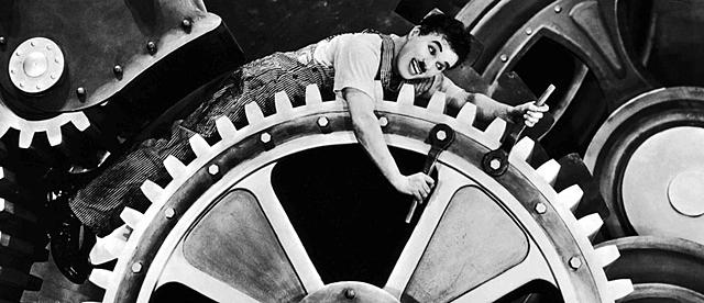 ''Tiempos Modernos'' Charles Chaplin