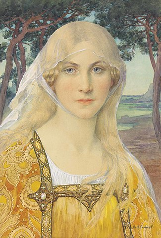 A girl wearing Breton costume