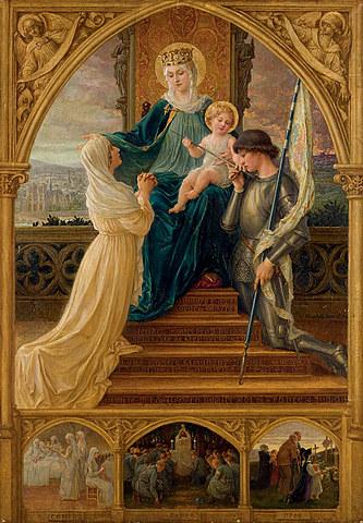 Vierge À L'enfant, Entre Sainte Geneviève Et Jeanne D'arc