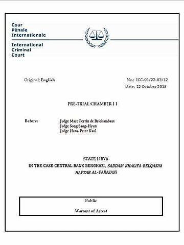 ICC Issuant of Warrant for Minister Grey