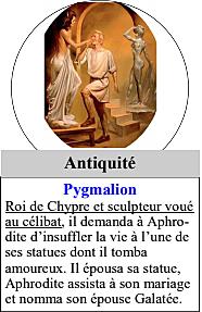 Antiquité : Pygmalion