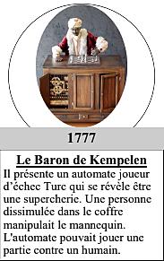1777 : Le Baron de Kempelen