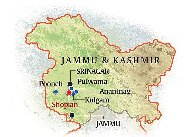 The state of Jammu and Kashmir is recognized
