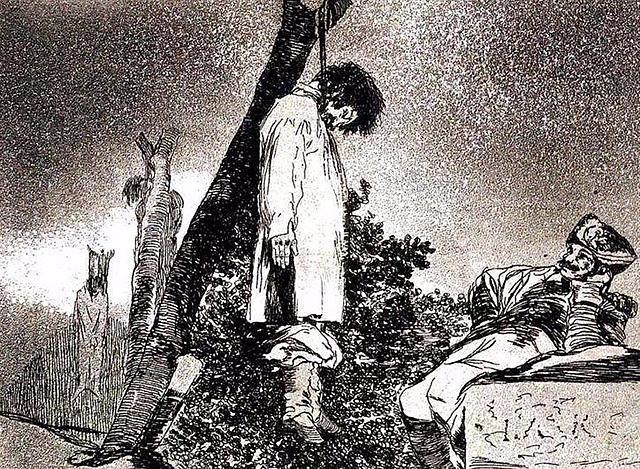Execució en massa de bandolers i col·laboradors per part del lloctinent duc d'Alburquerque.