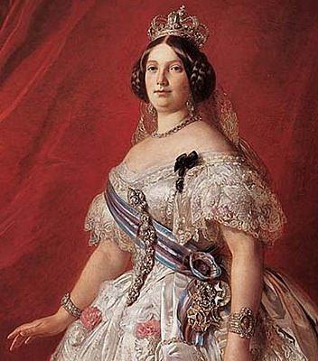 Isabel II s'exilia a França
