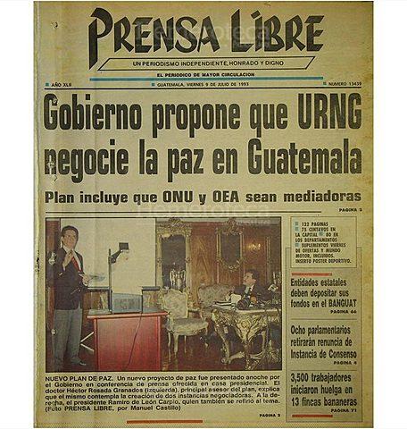 Gobierno propone que la URNG negocie la Paz en Guatemala.