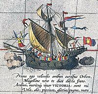 Laatste schip van Magelhaes bereikt spanje