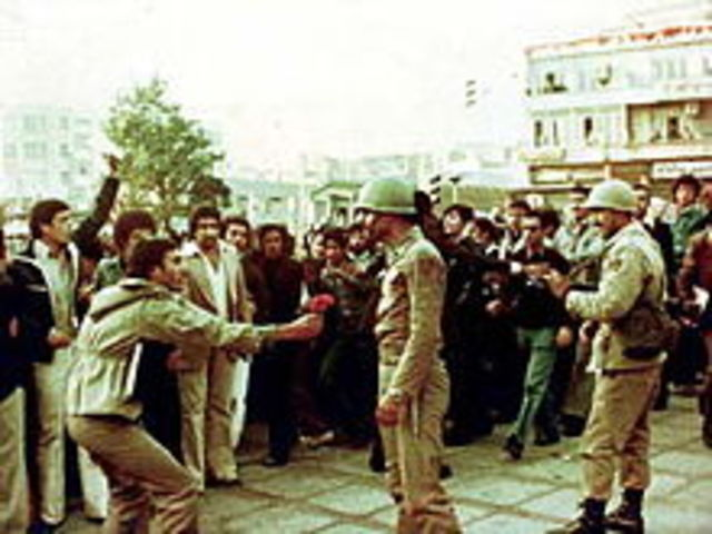 First Militant Anti-Shah Demonstration