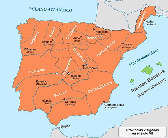 Els visigots funden el regne de Toledo.