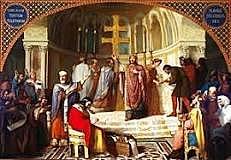Els visigots es converteixen al cristianisme.