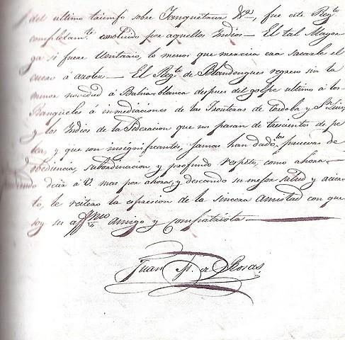 Rosas le escribe una carta a Quiroga con las razones por las que no se tendria que reunir el Congreso