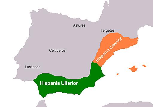 Victoria de los romanos contra los cartagineses en la Península Ibérica.