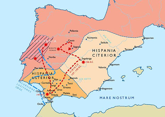 Roma conquista la mayoría de la Península Ibérica.