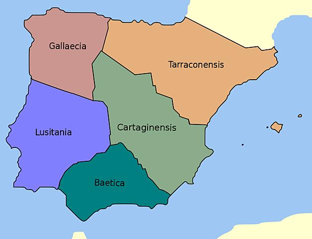 Nueva división territorial de Hispania.