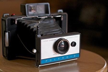 La cámara Polaroid.