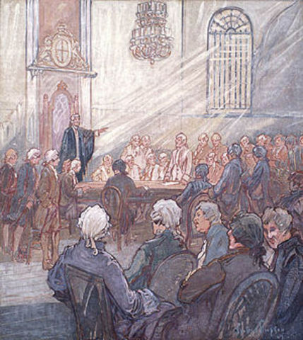 1st session of parliament in Lower Canada